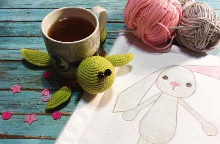 Amigurumi turtle crochet coaster pattern tutorial