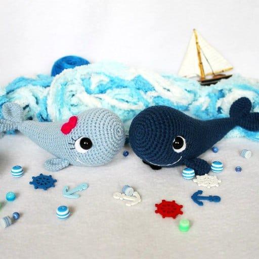 Crochet whale free amigurumi pattern