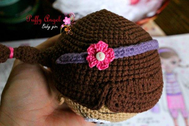 Doc McStuffins doll crochet pattern - flower
