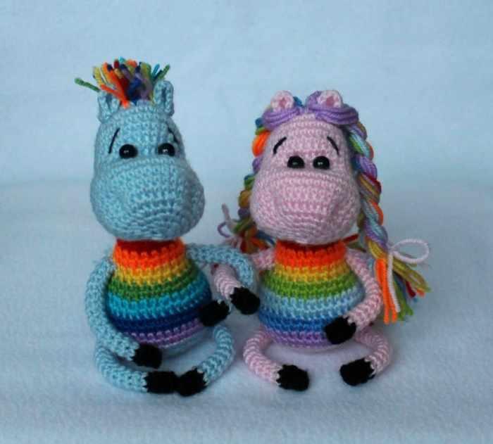 Rainbow horse amigurumi pattern free crochet tutorial