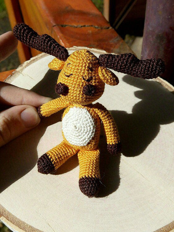 Amigurumi moose crochet pattern