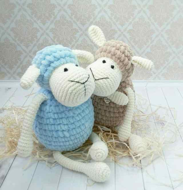 Amigurumi sheep plush toy crochet pattern