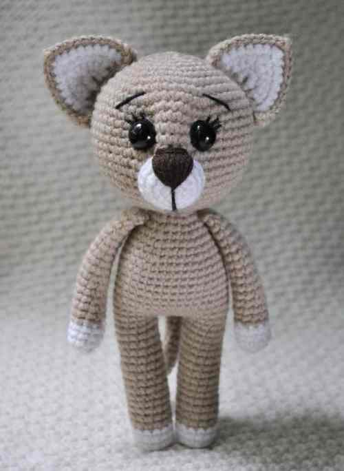 Сrochet lady cat amigurumi pattern
