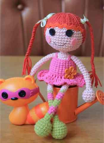 Crochet lalaloopsy doll amigurumi pattern free