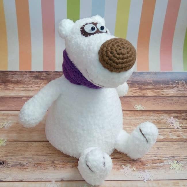 Crochet polar bear free amigurumi pattern