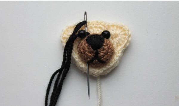 Free crochet bear hair ties pattern