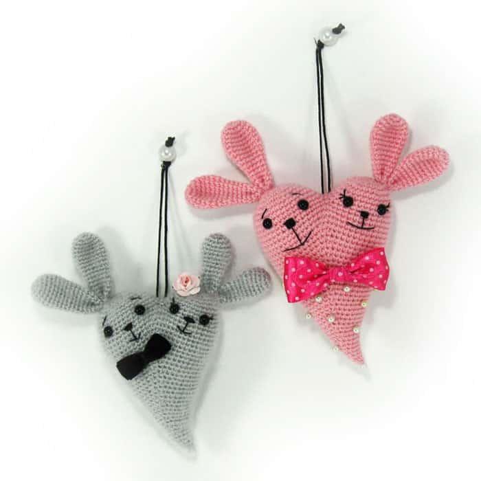 Bunny heart amigurumi - free crochet pattern