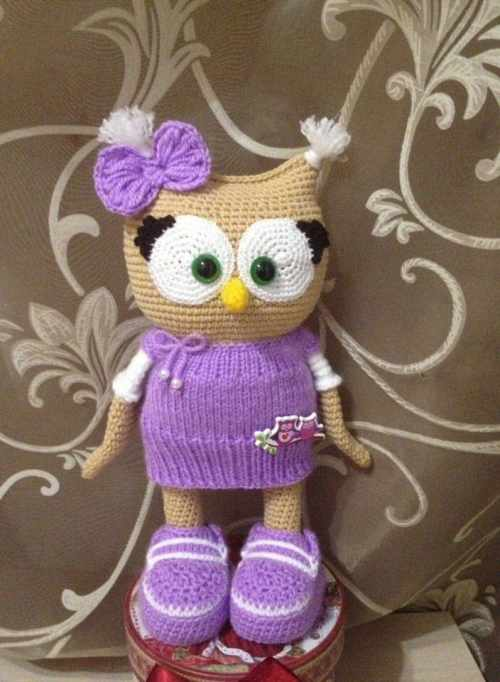 Amigurumi Patterns Owl : Cute owl in dress amigurumi pattern - Amigurumi Today