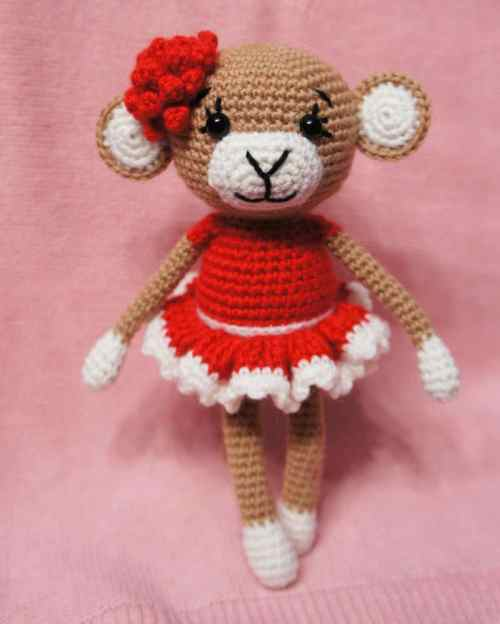 Decrease Amigurumi Crochet : Glamorous monkey amigurumi pattern - Amigurumi Today