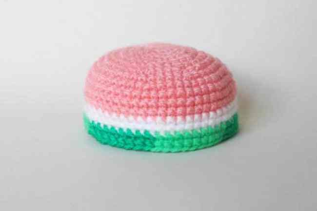 Watermelon turtle - free amigurumi pattern - shell