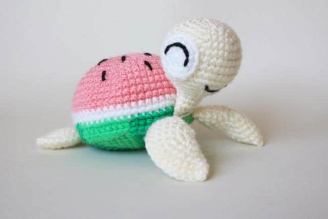 Amigurumi Flower Pattern Free : Watermelon turtles amigurumi patterns - Amigurumi Today