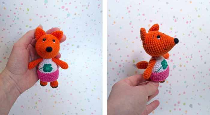 Free tiny fox crochet pattern