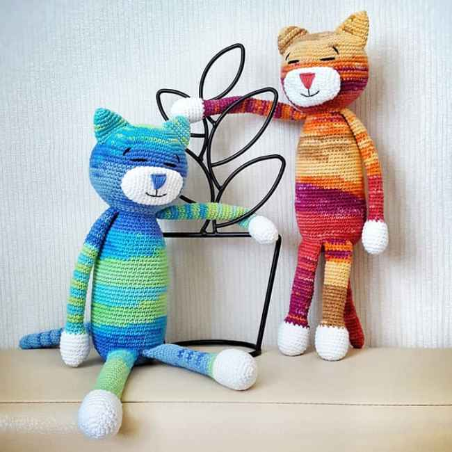 Free Crochet Patterns Cat : Large Ami Cat crochet pattern - Amigurumi Today