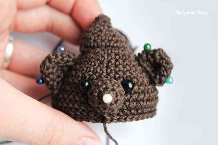 Amigurumi creamy choco bear crochet pattern - assembly