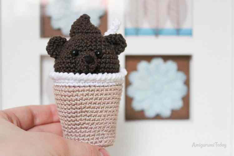 Amigurumi creamy choco bear - crochet toy pattern