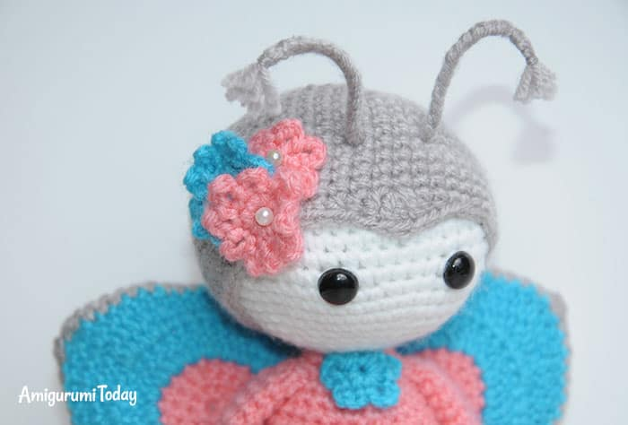 Amigurumi doll in butterfly dress pattern