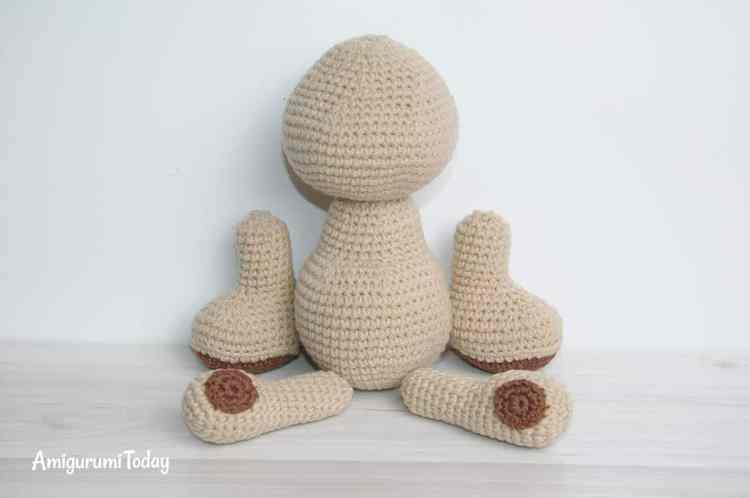 Amigurumi honey teddy bears - free crochet patterns - assembly