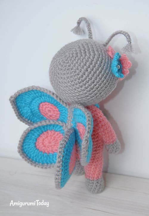 amigurumi doll in butterfly costume amigurumi today. Black Bedroom Furniture Sets. Home Design Ideas