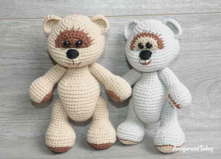 Honey teddy bears - free crochet pattern