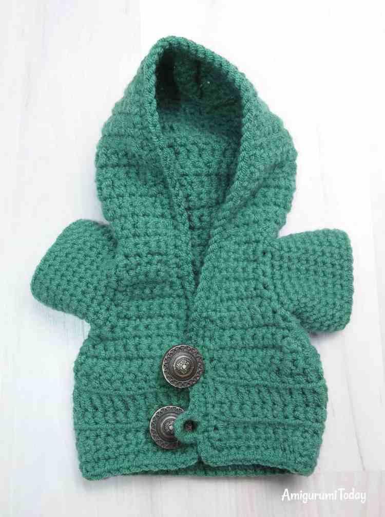 Honey teddy bears - hoodie crochet pattern