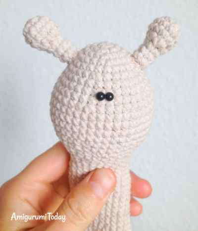 Crochet lady snail amigurumi pattern - assembly