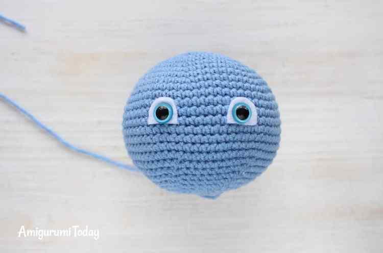 Crochet Smurf pattern - face
