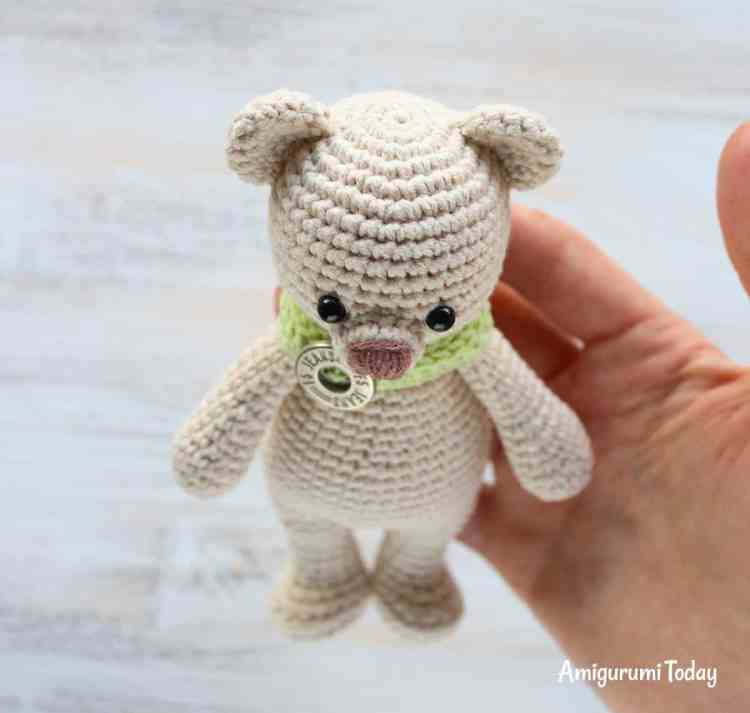 Cuddle Me Bear Crochet Pattern - sewing ears