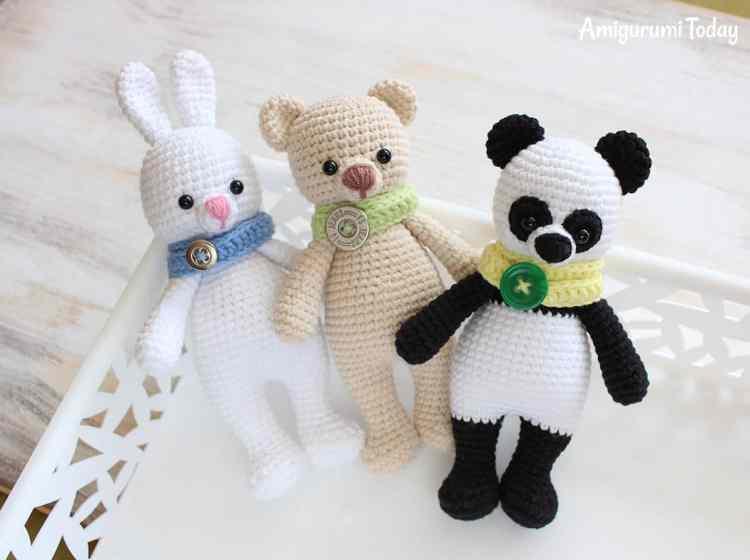 Cuddle Me Panda, Bear and Bunny - Free amigurumi patterns
