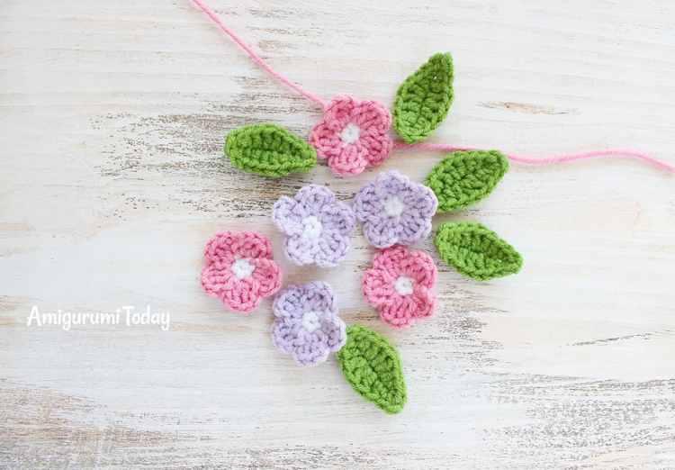 Cuddle Me Elephant Crochet Pattern - flowers