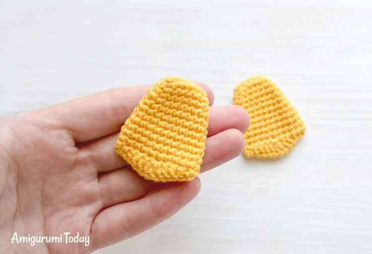 Webby Duck amigurumi pattern - feet