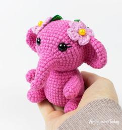 pink elephant crochet pattern by amigurumi today [ 1100 x 1100 Pixel ]