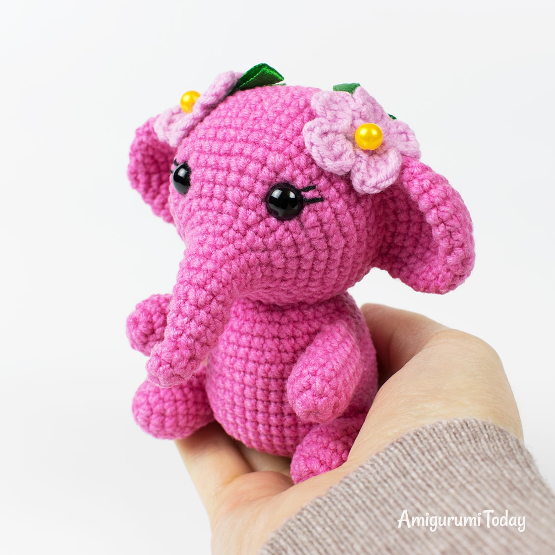hight resolution of pink elephant crochet pattern by amigurumi today