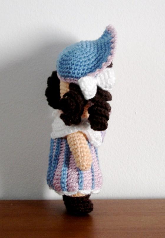 Flower Girl - One piece flat head doll
