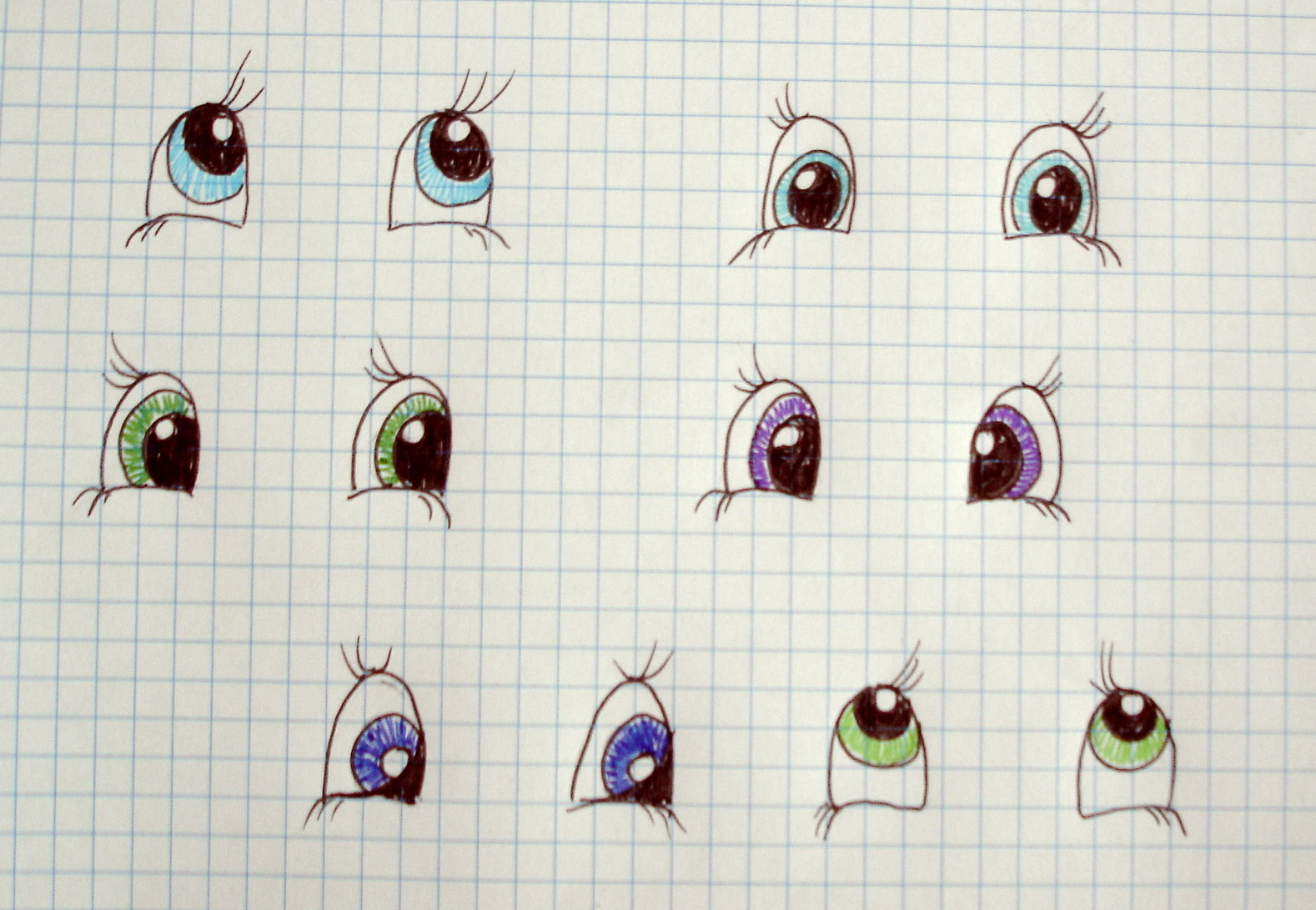 How to draw the eyes for doll amigurumi - YouTube   1091x1578