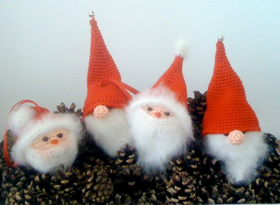 Santa and Nisser Ornaments - amigurumiBB - Free Patterns