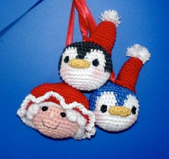 Penguin&MrsClaus Ornaments