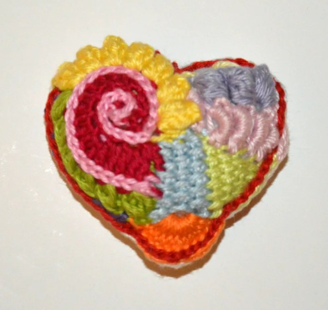 Cropatched Heart by Amigurumi BB