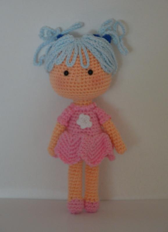 Doll from stick man drawing AmigurumiBB