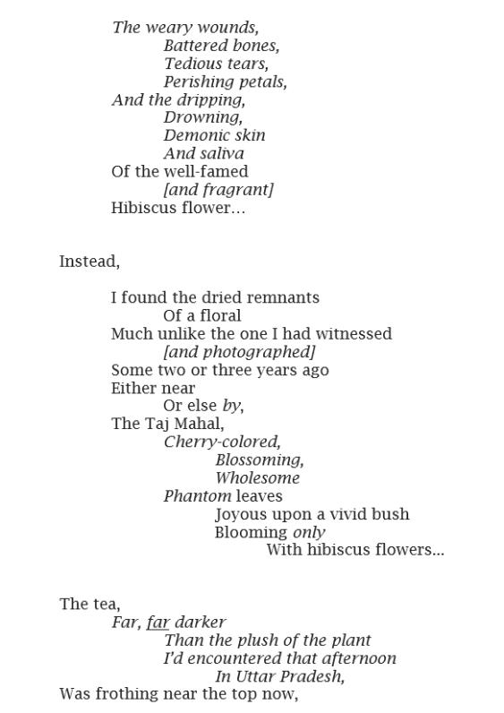 hibiscus poetry