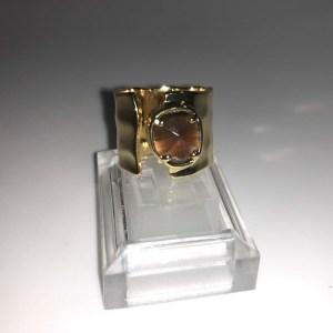 Bague style chevalier : couleur ambre