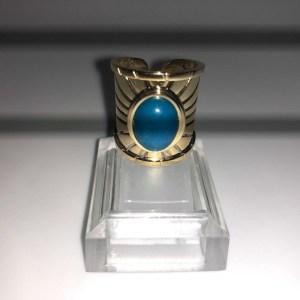 Bague style égyptien de couleur turquoise