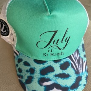 CASQUETTE VERTE TURQUOISE JULY OF ST BARTH