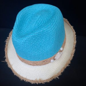 Turquoise blue hat