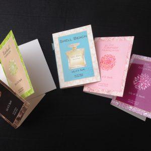 Echantillons des 5 parfums July of St Barth