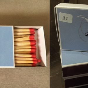 The famous matches boxes July of St Barth