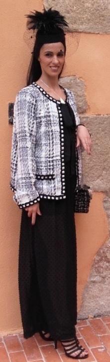 Veste noire et blanche