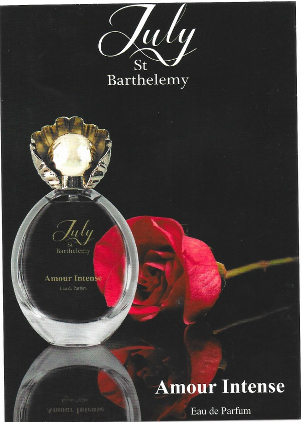 Amour Intense July St Barthelemy carte parfumee perfumed card
