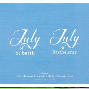 Catalogue July of St Barth et July St Barthelemy avec nos 12 parfums