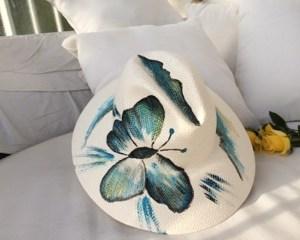 chapeau Papillon bleu turquoise