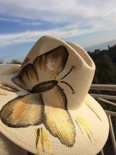 CHAPEAU Papillon jaune